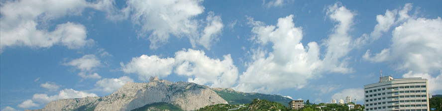 Воздушные облака над Крымом. Любуйтесь, наслаждайтесь.