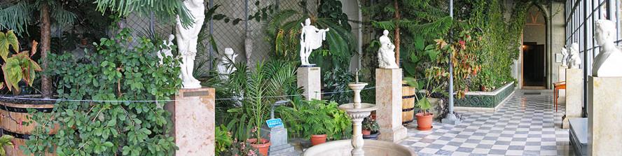 Зимний сад Воронцовского дворца в Алупке