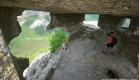 Мыс Тешкли-Бурун (Дырявый мыс) на пещерном городе Мангуп-Кале.